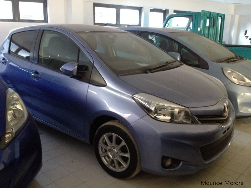 Used Toyota VITZ - LIGHT BLUE - LEATHER SPORT  SEATS in Mauritius