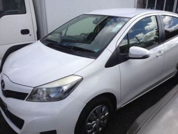 Pre-owned Toyota VITZ - WHITE for sale in