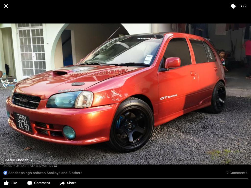 Pre-owned Toyota Starlet glanza turbo for sale in