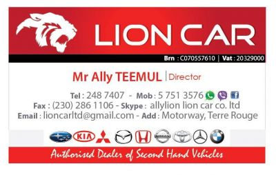 Lion Car Co Ltd  Mauritius